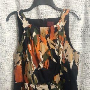 Printed, summer cocktail dress